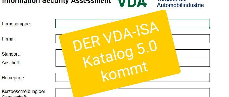 Überarbeitung des VDA-ISA Katalogs