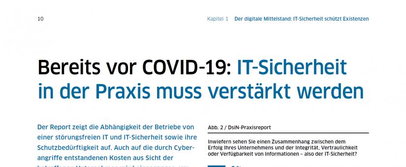 46 Prozent der Unternehmen in Deutschland melden IT-Angriffe – nach dem DsIN Praxisreport 2020.